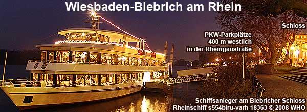 Weihnachtsfeier Wiesbaden am Rhein, Schifffahrt ab Biebricher Schloss.