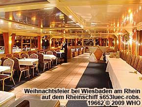 Rheinschiff s653luec-robs Rheinschifffahrt bei Rüdesheim, Bingen, Ingelheim-Freiweinheim, Eltville, Wiesbaden und Mainz.