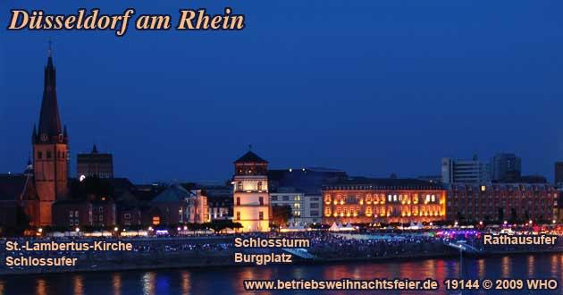 Weihnachtsfeier Düsseldorf Rhein, Betriebsweihnachtsfeier Schifffahrt ab Rheinterrasse.