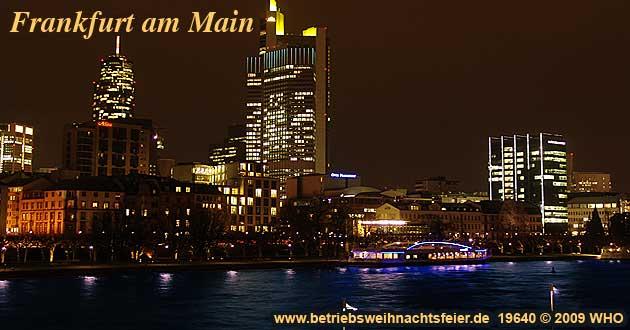 Weihnachtsfeier Frankfurt Main, Betriebsweihnachtsfeier Schifffahrt ab Untermainkai.